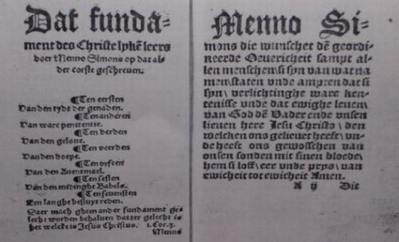 The 1539 edition of Menno's Foundation-Book